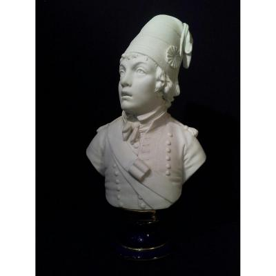 "Bust Of ""barra"" Biscuit And Porcelain. Marks Of Sèvres."