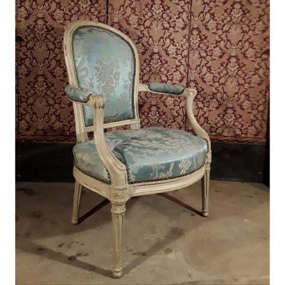 Fauteuil d'époque Louis XVI . Attribué à G. Jacob.