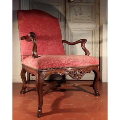 Large Regency Period Armchair.