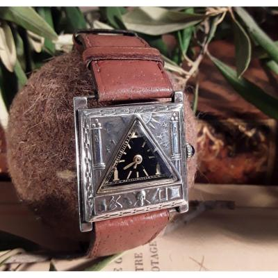 Watch With Masonic Decor. Unique Piece.