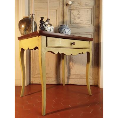 Provencal Table In Lacquered Wood.