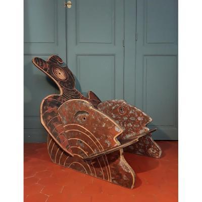 Fauteuil -sculpture.  Tanguy Flot.