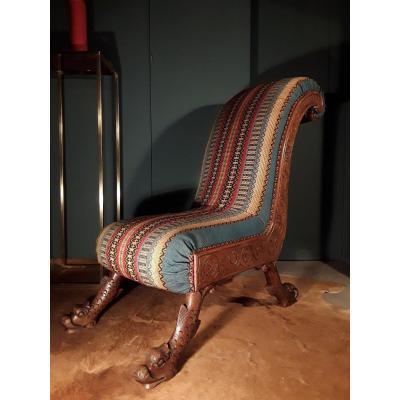 XIXth Century Low Chair.