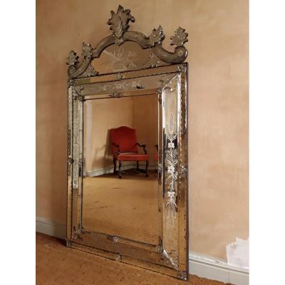 Grand Miroir Vénitien Circa 1850
