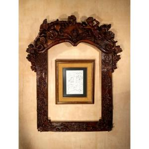 "Large ""popular Art"" Frame. Restoration Period."