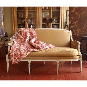 Louis XVI Period Sofa In Lacquered Wood.