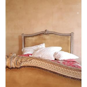 Louis XVI Style Lacquered Wood Bed.