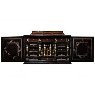 Cabinet Aux Déesses, Palissandre, Filets d'Ivoire, Début Du XVIIeme, Augsbourg