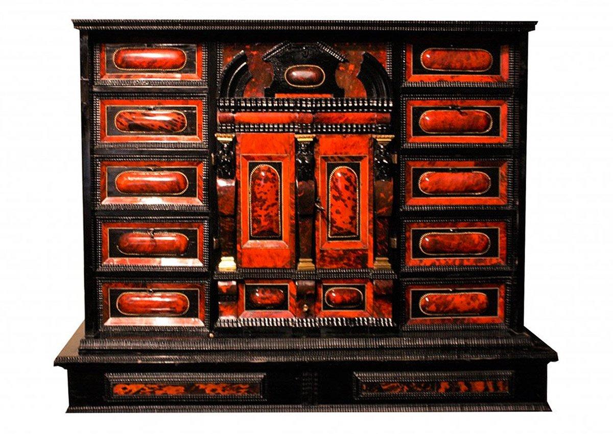 Cabinet En écaille De Tortue Et ébène, Anvers, époque XVIIème Siècle