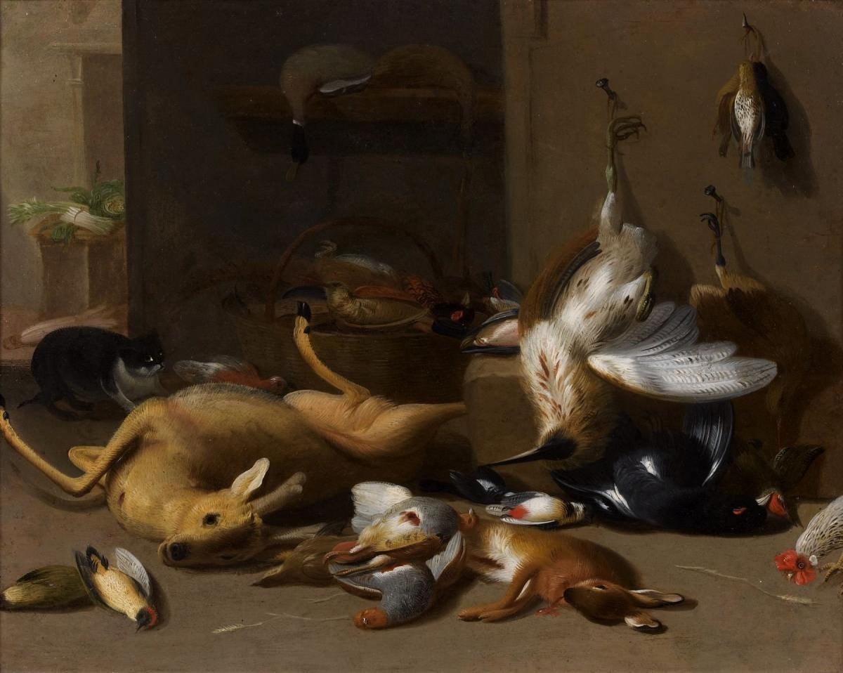 Jan Van Kessel II (1654-1708) Nature Morte Au Gibier, Huile Sur Cuivre