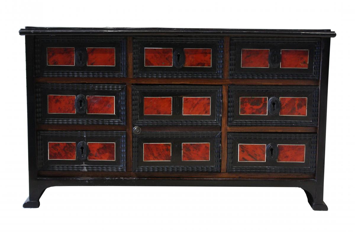 Cabinet En écaille De Tortue Et ébène, Anvers, XVIIe Siècle