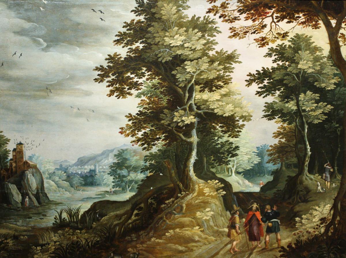 Paysage Avec Les Pèlerins D'emmaüs, école Anversoise Du XVIIe