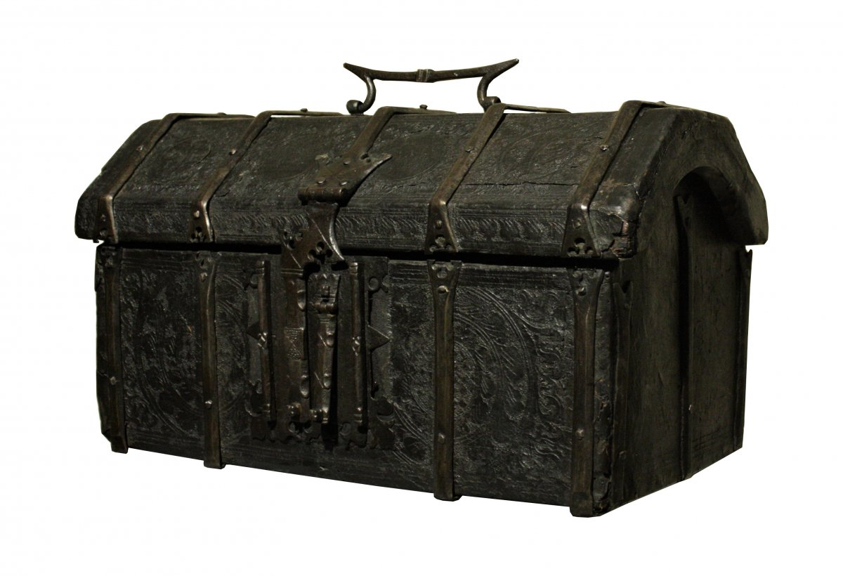 Gothic Leather Casket 15th Century
