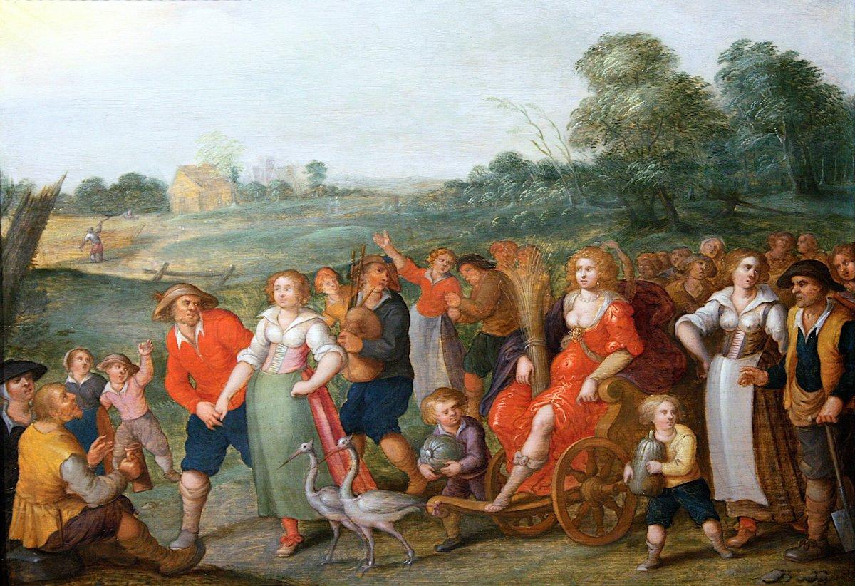 Allégorie De L'été - Attribué à Louis De Caullery (1580-1622)