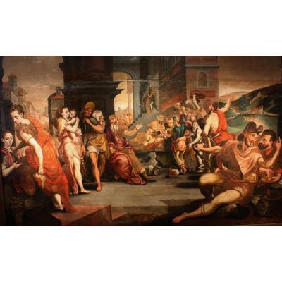 Parabole Des Ouvriers De La Vigne, Entourage De Frans Floris, XVIème, Renaissance