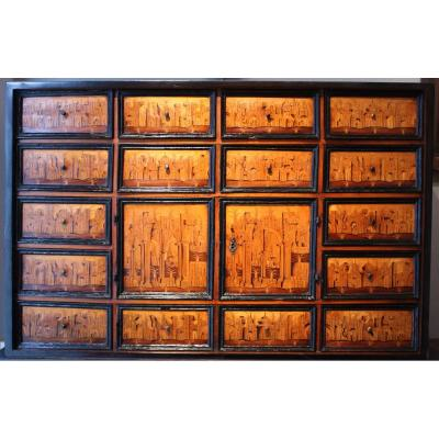 Cabinet En Marqueterie, Augsbourg Début Du XVIIème Siècle