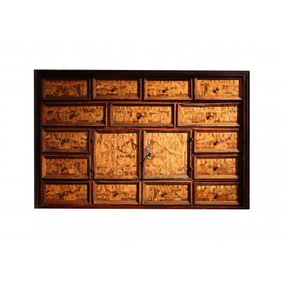 An Early 17th Centuryaugsurg South German Inlaid Cabinet