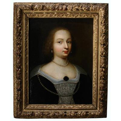 Portrait Of Mary Of Bourbon-montpensier, Workshop Of Beaubrun, Circa 1625