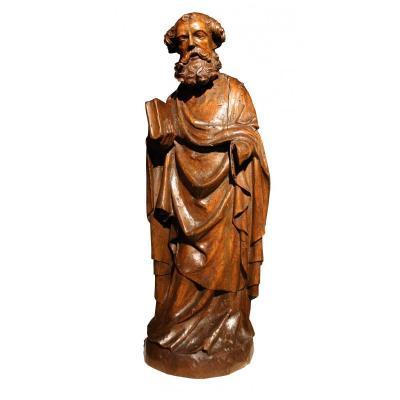 St Pierre En Tilleul Sculpté - Allemagne XIVe Siècle