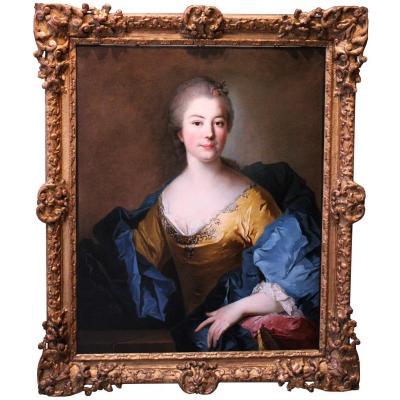 Portrait De Dame, Entourage De Jean Marc Nattier, XVIIIème Siècle