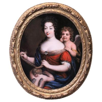 Portrait De Princesse De Conti En Vénus - Atelier De Pierre Mignard, époque XVIIe