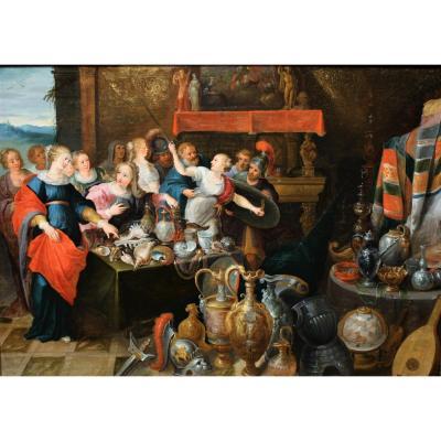 Les Filles De Lycomède, Atelier De Frans Francken Le Jeune (1581-1642)