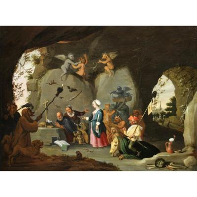 Tentation De St Antoine - Atelier De David Teniers Le Jeune (1610-1690)