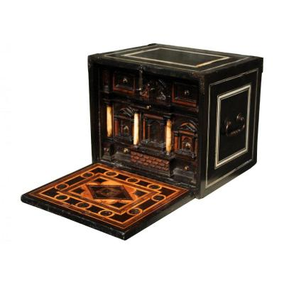 Late 16th C. Augsbourg Inlaid Cabinet