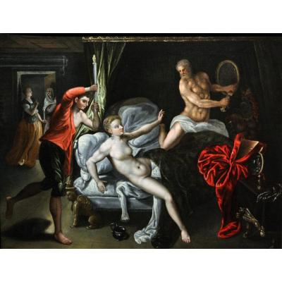 Venus Et Mars Surpris Par Vulcain, Vers 1580, Entourage De Jacob De Backer