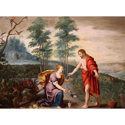 Noli Me Tangere, Milieu Du XVIIe, Entourage De Jan Brueghel Et Pierre Paul Rubens