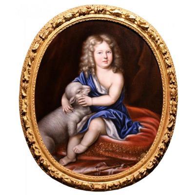 Portrait De Duc D'anjou Enfant - Atelier De Pierre Mignard (1612-1695)