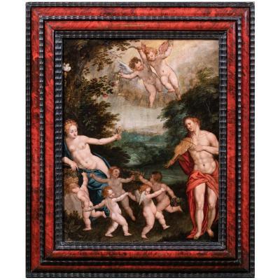 Allégorie De L'amour, Attribué à Hendrick De Clerck, XVIIe Siecle