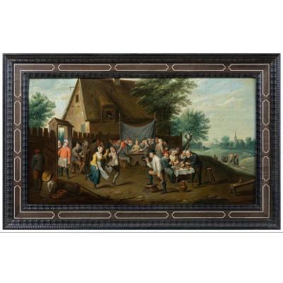 Les Noces Paysannes, Attribué A David Teniers Le Jeune, XVIIe Siecle
