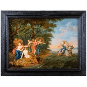 Enlèvement d'Europe, Entourage De Jan Van Kessel (anvers, 1626-1679)