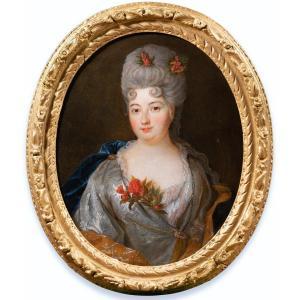 Portrait De Mme De Rignac, Atelier De Nicolas De Largillière, époque Louis XIV
