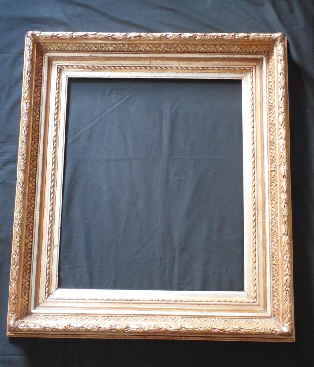 Stucco On Frame : Frame wood and stucco gold silver nineteenth old frames