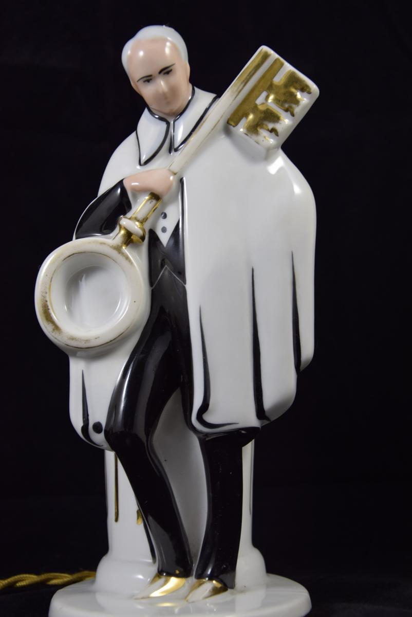 """Veilleuse - Brûle  Parfum""""La clef des songes"""",Porcelaine de Limoges vers 1950."""