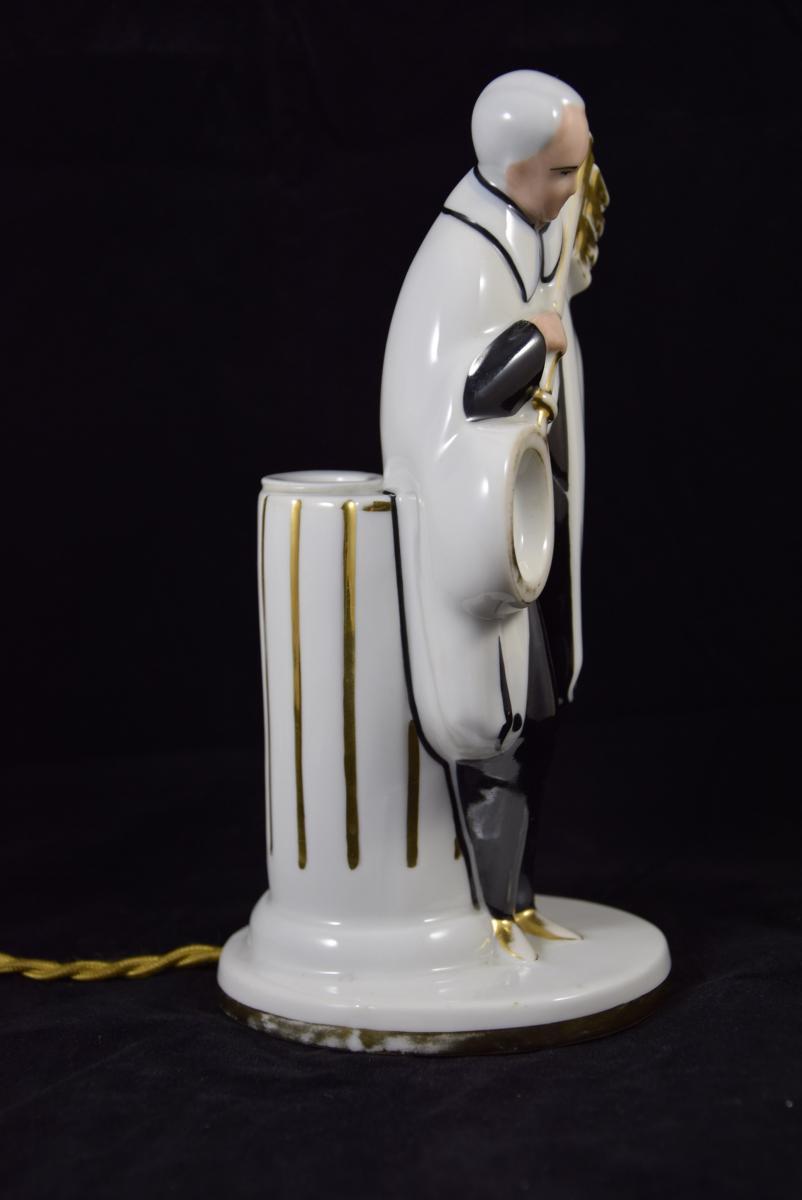 """Veilleuse - Brûle  Parfum""""La clef des songes"""",Porcelaine de Limoges vers 1950.-photo-4"""