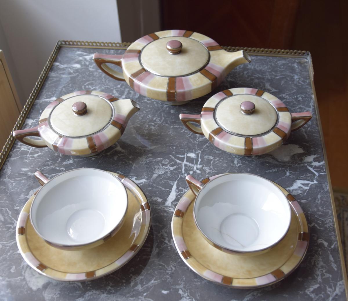 Camille Tharaud, Enamelled Porcelain Head To Head, Art Deco