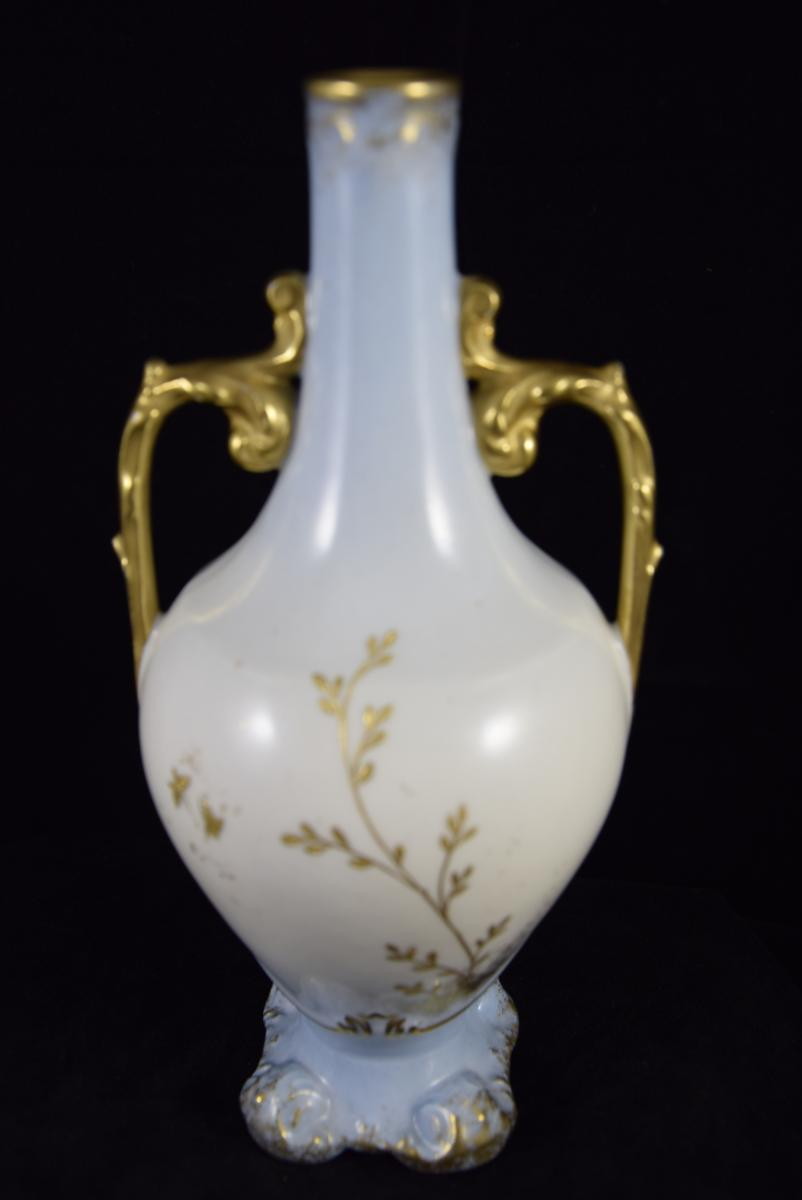 Vase en porcelaine de Limoges,manufacture William Guérin vers1900-photo-1