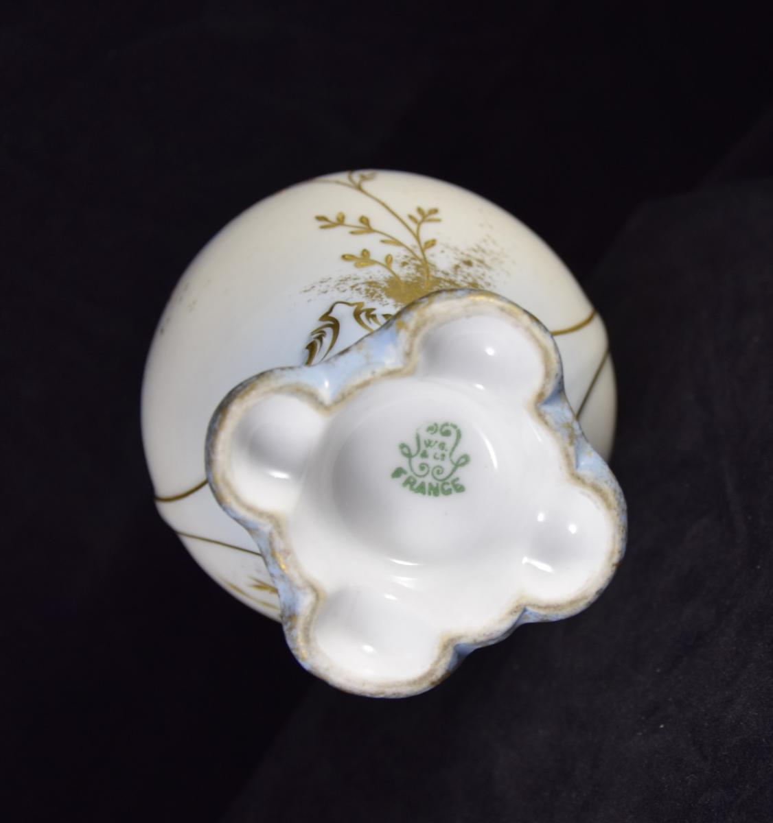 Vase en porcelaine de Limoges,manufacture William Guérin vers1900-photo-2