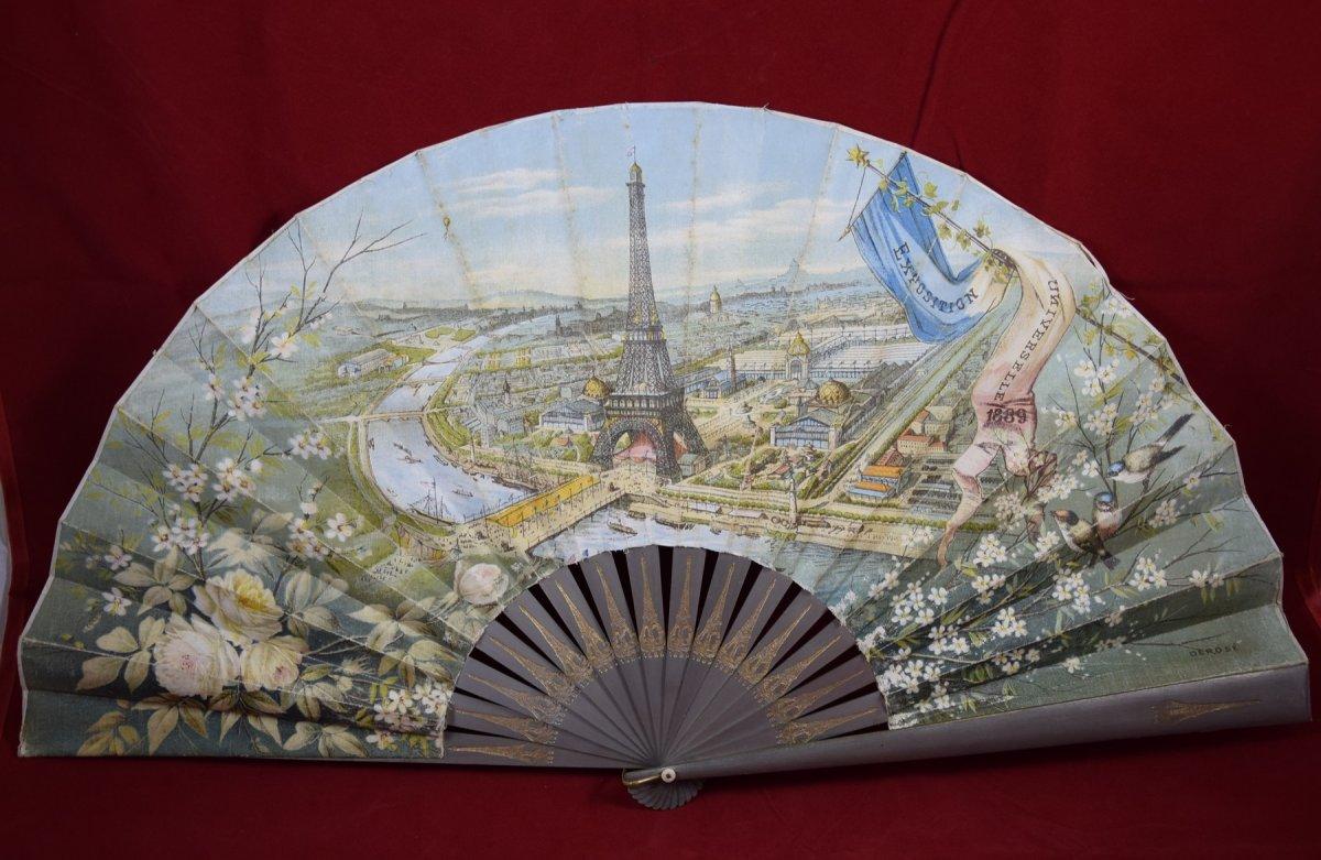 """Eventail """"exposition universelle de 1889"""""""