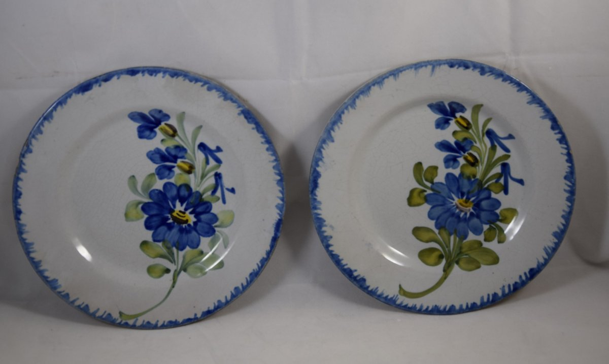 Pair Of Thiviers Earthenware Plates