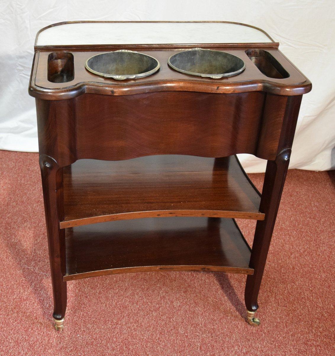 Table rafraichissoir en acajou dans le goût de Canabas, style transition LXV-LXVI, 19ème