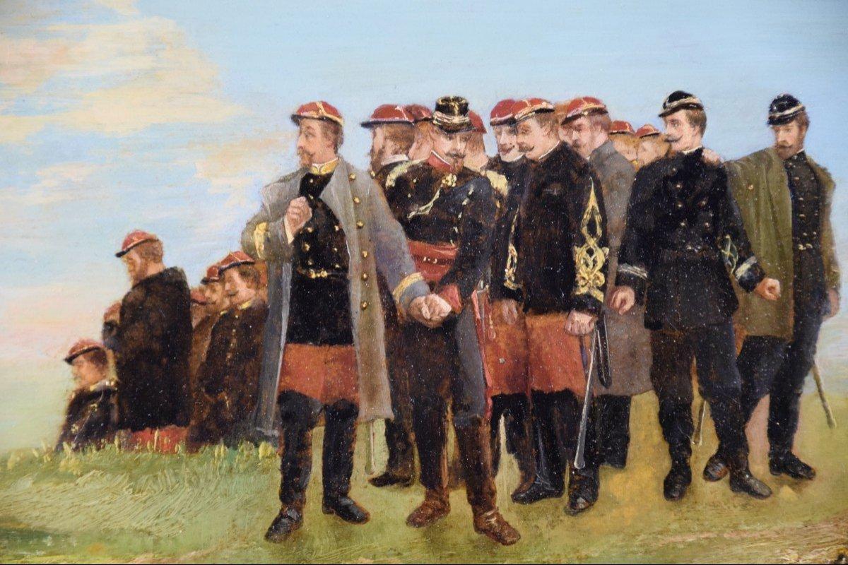 Jean Alexandre Couder, The Farewells Of General Bazaine, Metz 1870, Oil On Panel-photo-1