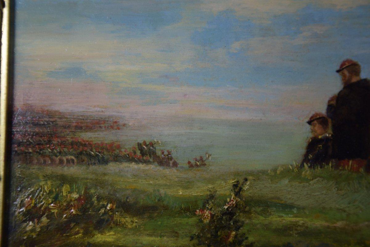 Jean Alexandre Couder, The Farewells Of General Bazaine, Metz 1870, Oil On Panel-photo-5