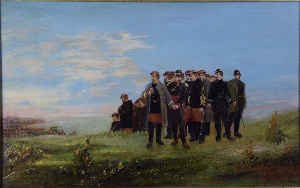 Jean Alexandre Couder, The Farewells Of General Bazaine, Metz 1870, Oil On Panel