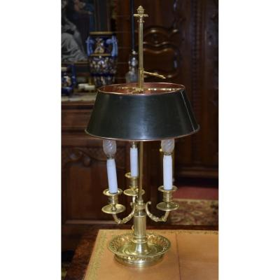 Hot Water Bottle Lamp In Gilded Bronze, 3 Sconces.
