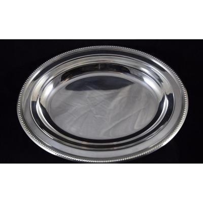 Plat creux ovale métal argenté Christofle