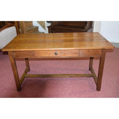 Petite table de ferme en merisier , XIXème